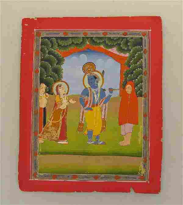 Late 19th C. Indian Miniature Painting, Jaipur.