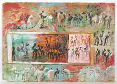Purvis Young (1943-2010) Mixed Media Painting