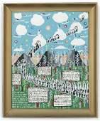 """Howard Finster (1916-2001) """"Highway to Heaven"""", #6,003"""