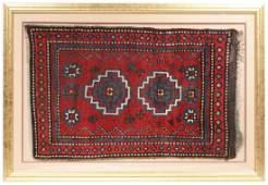 Antique East Anatolian Kurd Rug in Custom Frame