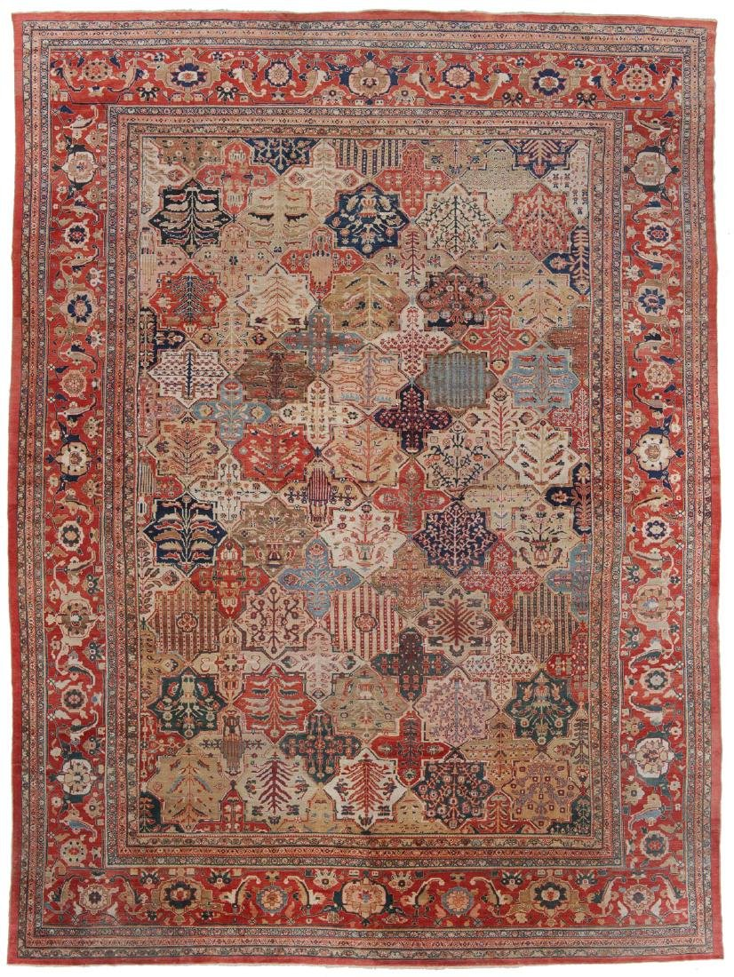 Antique Palace Size Sultanabad Rug, Persia, 17'5'' x