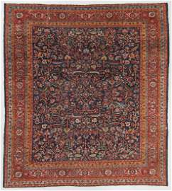 Antique Heriz Rug, Persia: 13'0'' x 14'5''