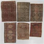 6 Antique Caucasian Rugs