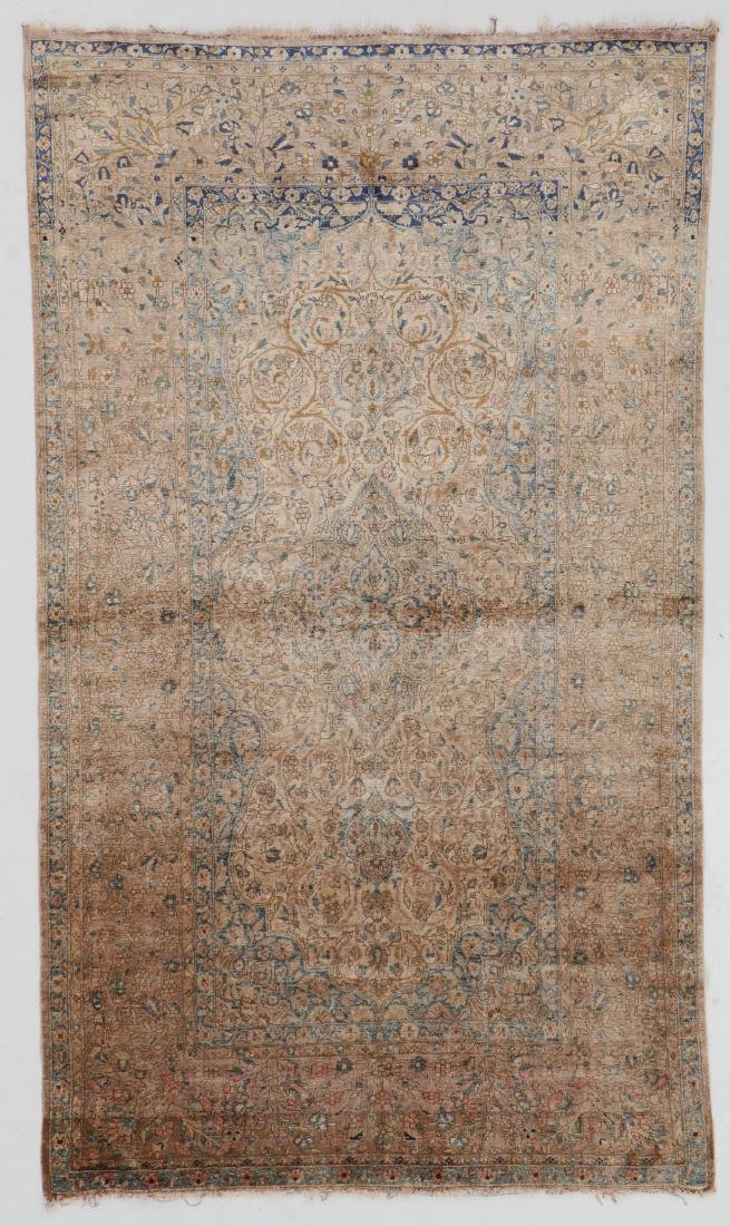 Antique Silk Mohtasham Kashan Rug, Persia: 4'0'' x