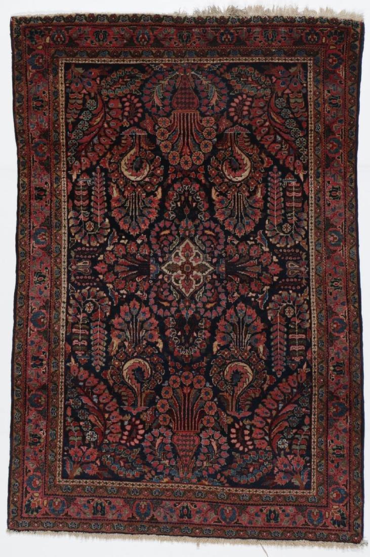 Antique Sarouk Rug: 3'4'' x 5'0''
