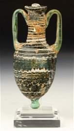Ancient Hellenistic Glass Amphoriskos