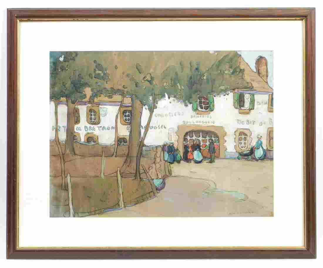 Jane Peterson (American, 1876-1965) Watercolor