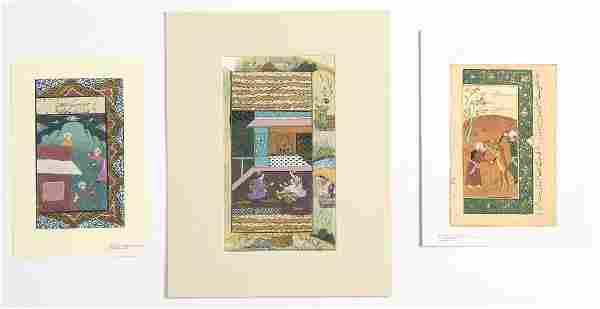 Group of 3 Indo-Persian Illuminated Manuscript
