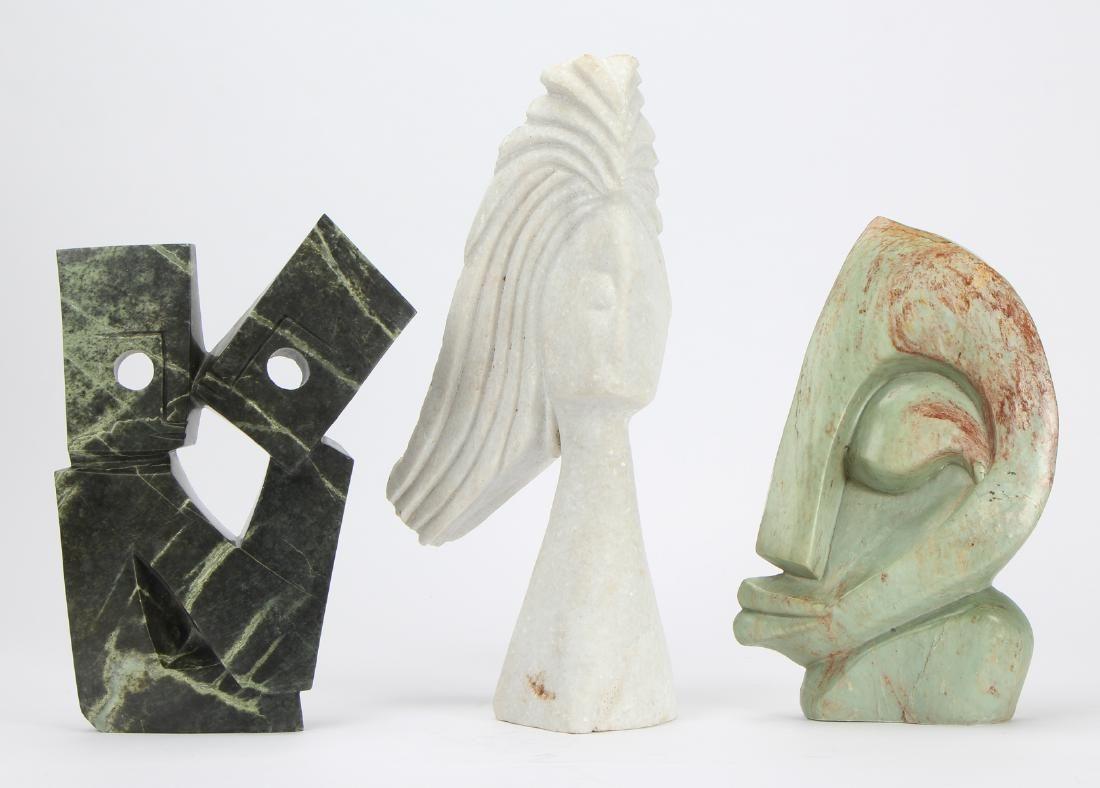 Group of 3 Zimbabwe Shona Sculptures