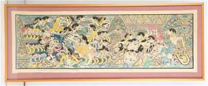 Old Wayang Beber Painting, Central Java