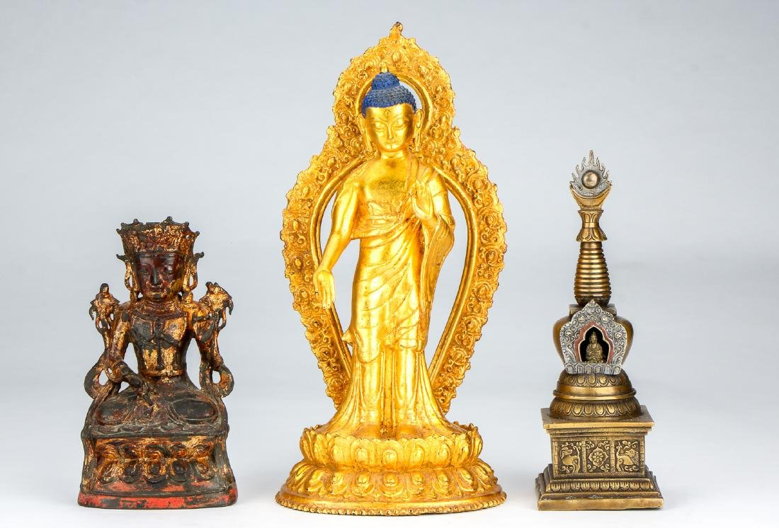 Estate Collection of 3 Asian Statues
