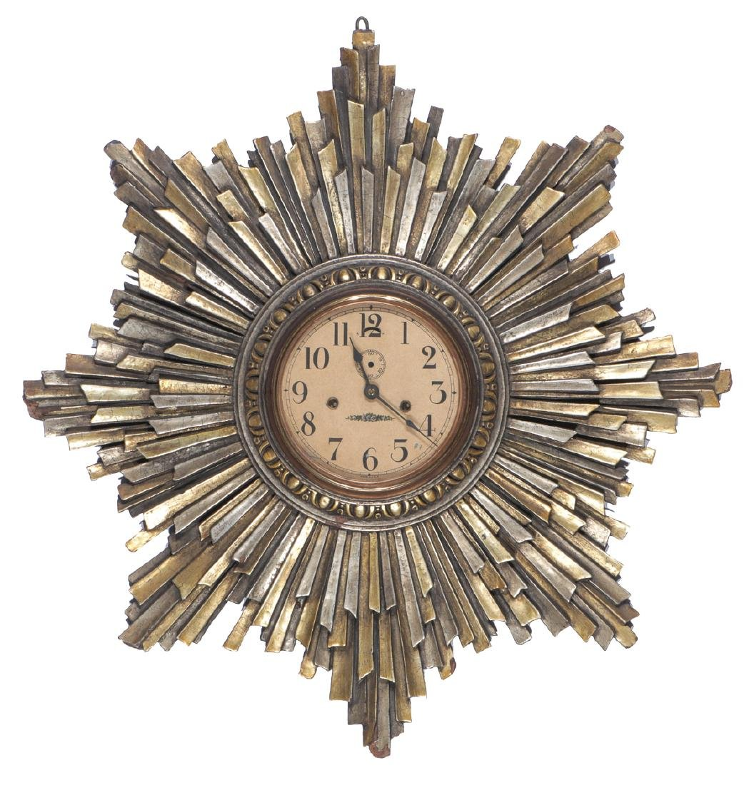 Starburst Eight Day Wall Clock