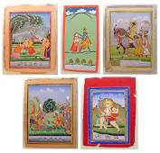 Group of 19th C. Indian Miniature Paintings