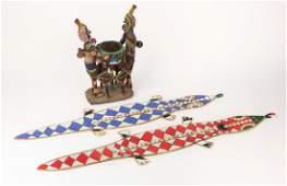 Three African Yoruba Beaded Objects, Nigeria