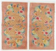 Pair of Art Deco Rugs Early 20th C China
