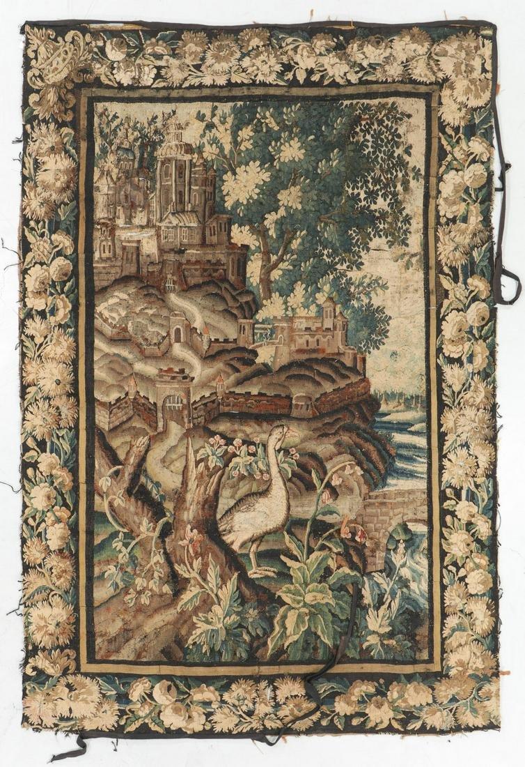 18th Century Flemish Verdure Tapestry: 5'11'' x 8'10''