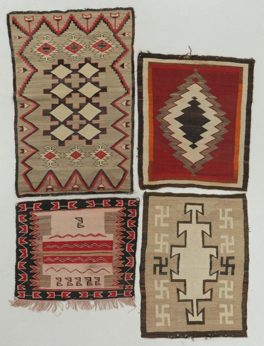 4 Antique Navajo Rugs