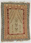 Antique Anatolian Prayer Kilim, Turkey: 3'7'' x 4'10''