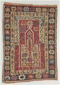 Antique Anatolian Prayer Kilim, Turkey: 3'3'' x 4'7''