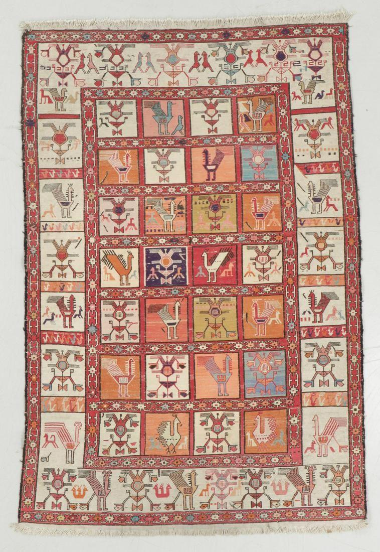 Vintage Sumak Rug, Persia: 3'11'' x 5'10''