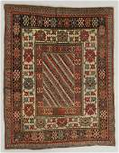 Antique Kazak Rug, Caucasus: 4'5'' x 5'8''