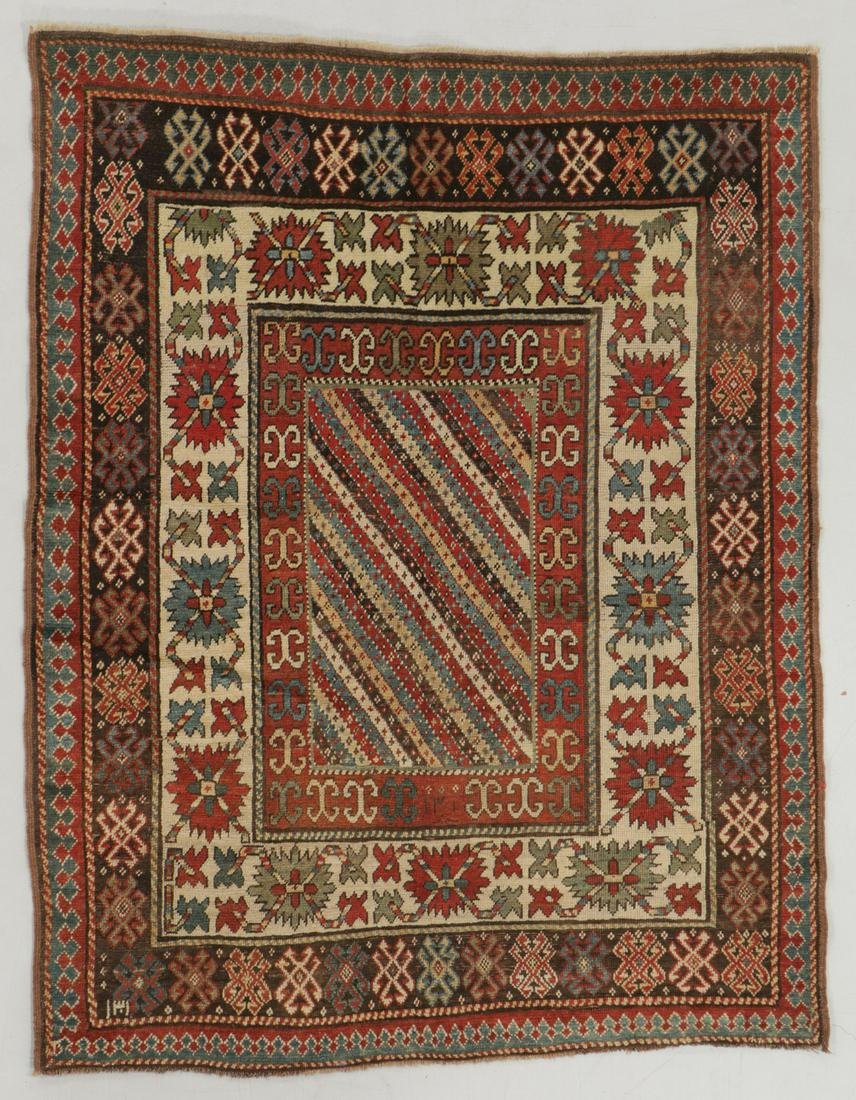 Antique Kazak Rug, Caucasus: 4'5'' x 5'8''