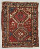 Antique Kazak Rug, Caucasus: 3'7'' x 4'5''
