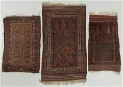 Three Antique Beluch Rugs, Afghanistan
