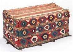 Antique Shahsavan Besik, 5-Sided Kilim Mafrash