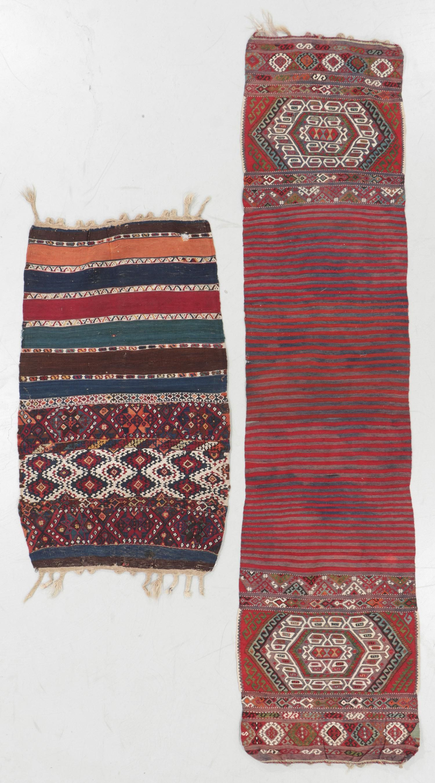Two Antique East Anatolian Kilim Trappings