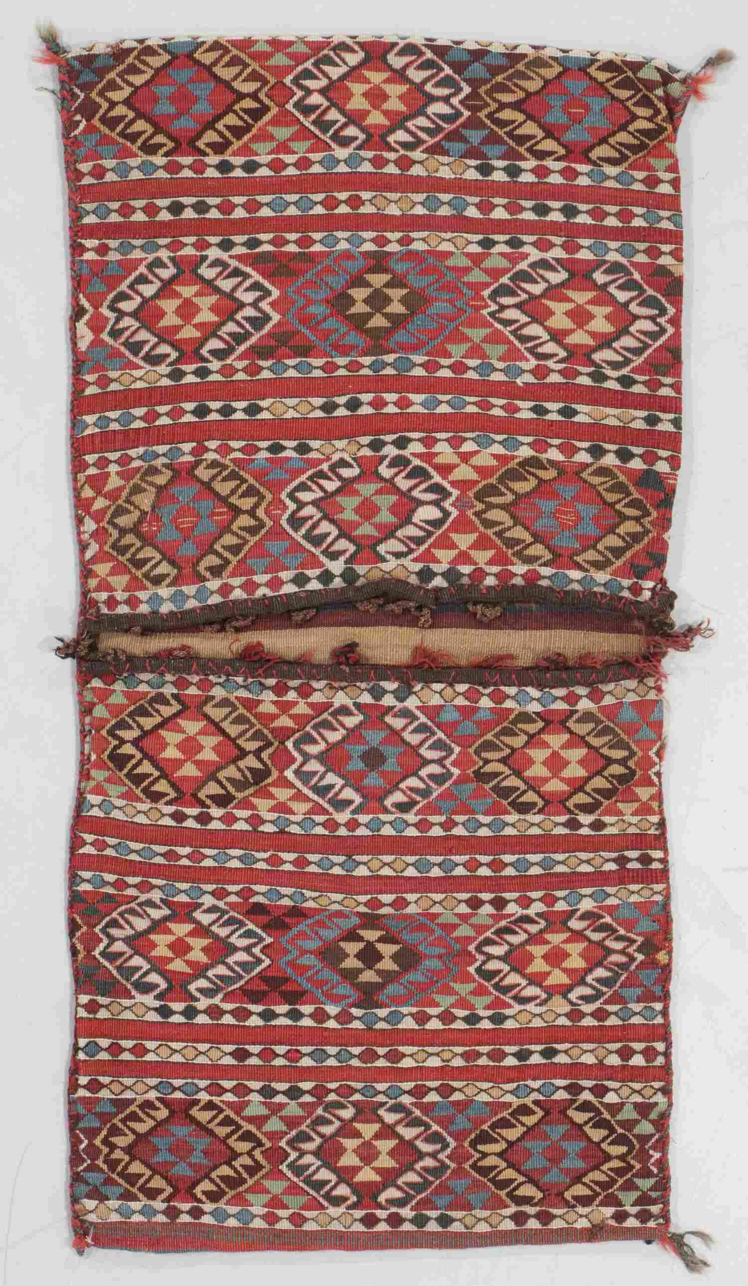 Antique East Anatolian Flatweave Heybe/Saddlebags