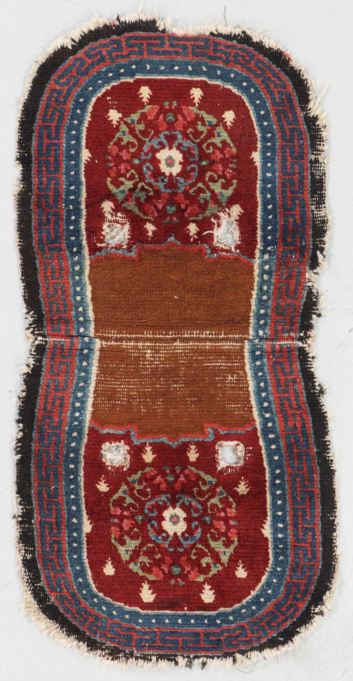 Antique Tibetan Saddle Rug, Tibet, Late 19th c