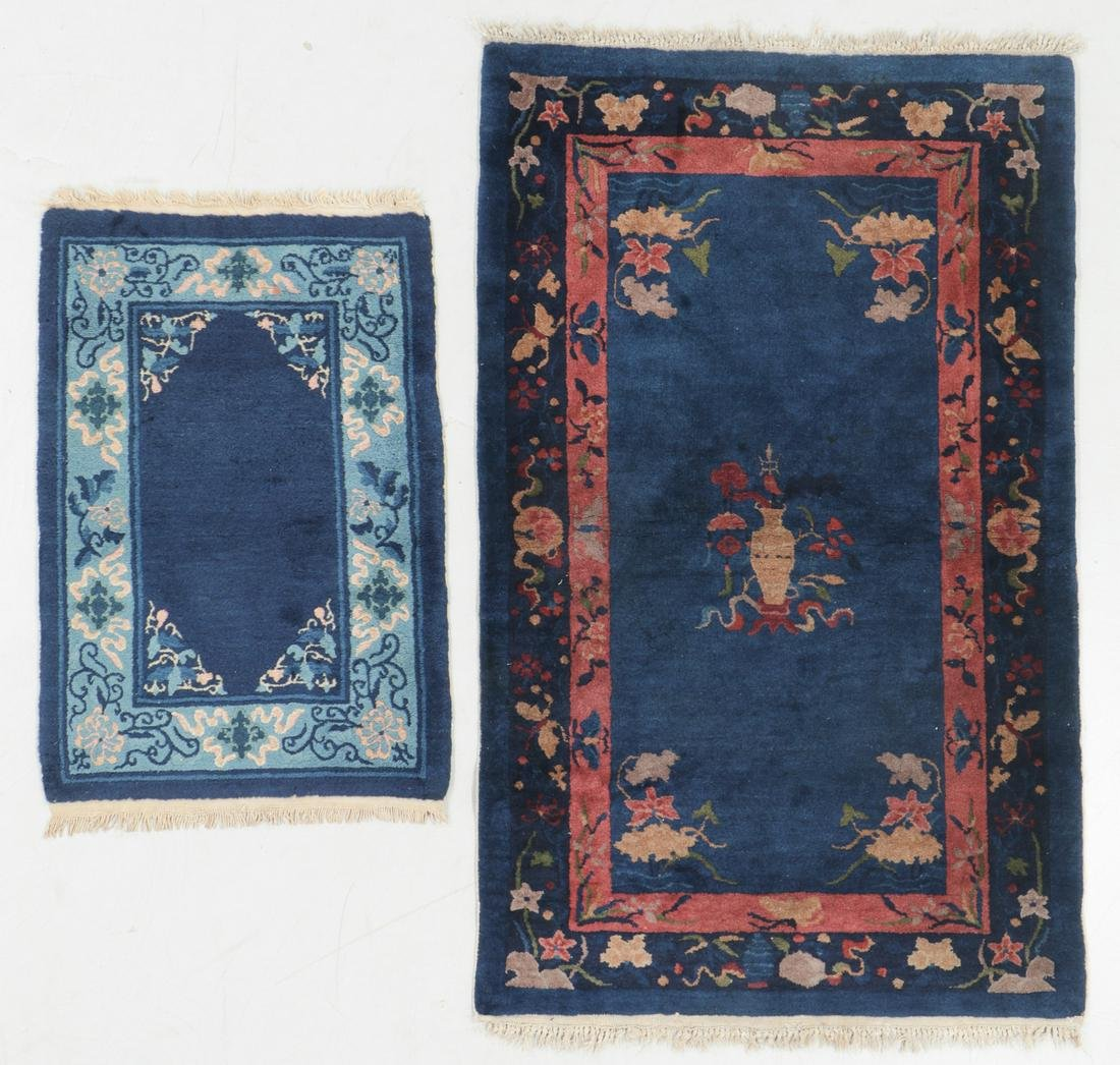 Two Chinese Art Deco Rugs, Early 20th C.