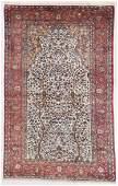Antique Silk Kashan Prayer Rug Persia 41 x 66