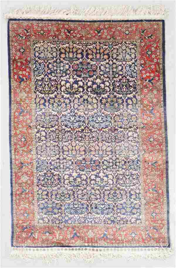 Vintage Kayseri Silk Rug, Turkey: 3'4'' x 5'0''