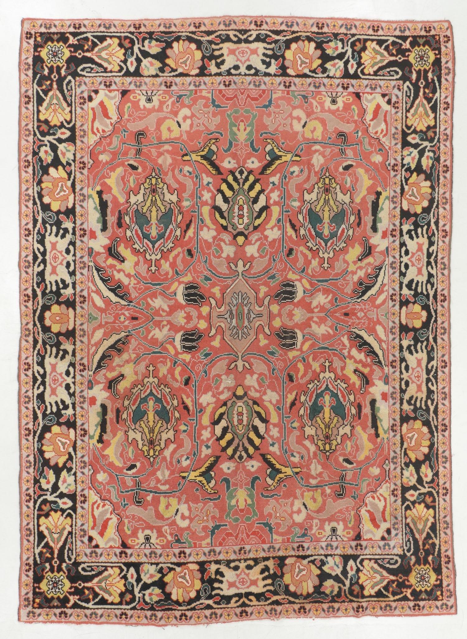 Antique Arts & Crafts Rug, Eastern Europe: 8'6'' x