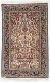 Vintage Isfahan Wool and Silk Rug, Persia: 3'8'' x