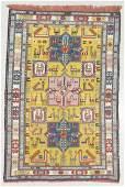 Vintage Silk Sumak Rug, Persia: 4'4'' x 6'6''