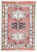 Vintage Silk Sumak Rug, Persia: 3'6'' x 4'10''