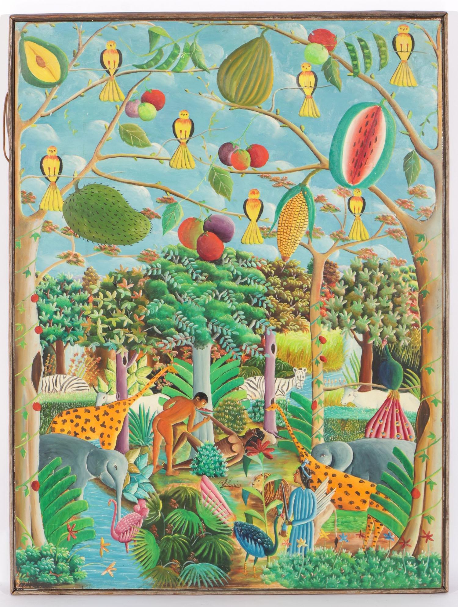 Bien-Aime Sylvain (Haitian, b. 1936) Garden of Eden
