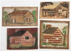 Jimmy Lee Sudduth (1910-2007) Four Paintings