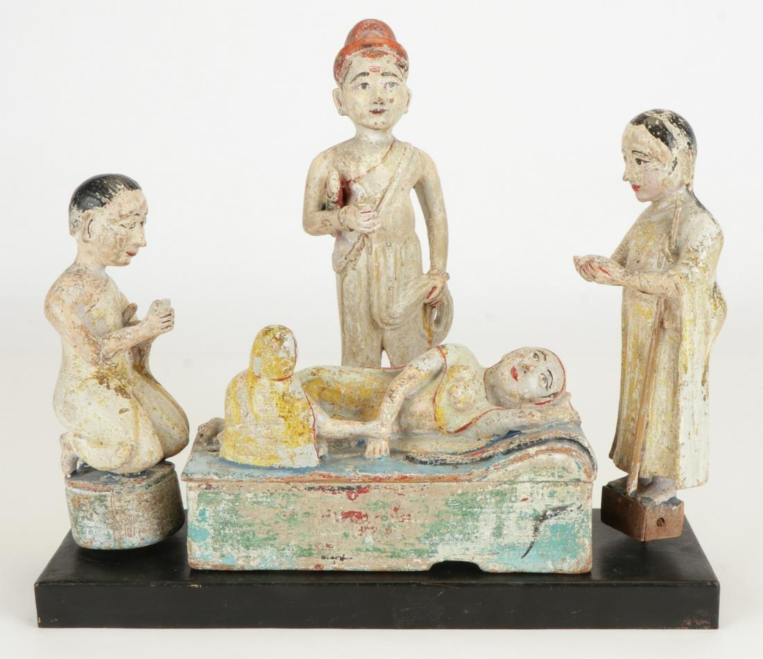 Antique Jain Religious Tableau, Gujarat, India