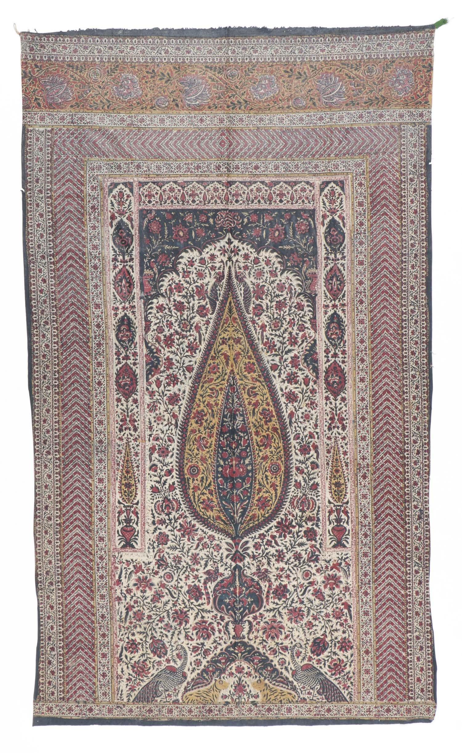 Persian Block Print Tree of Life Textile