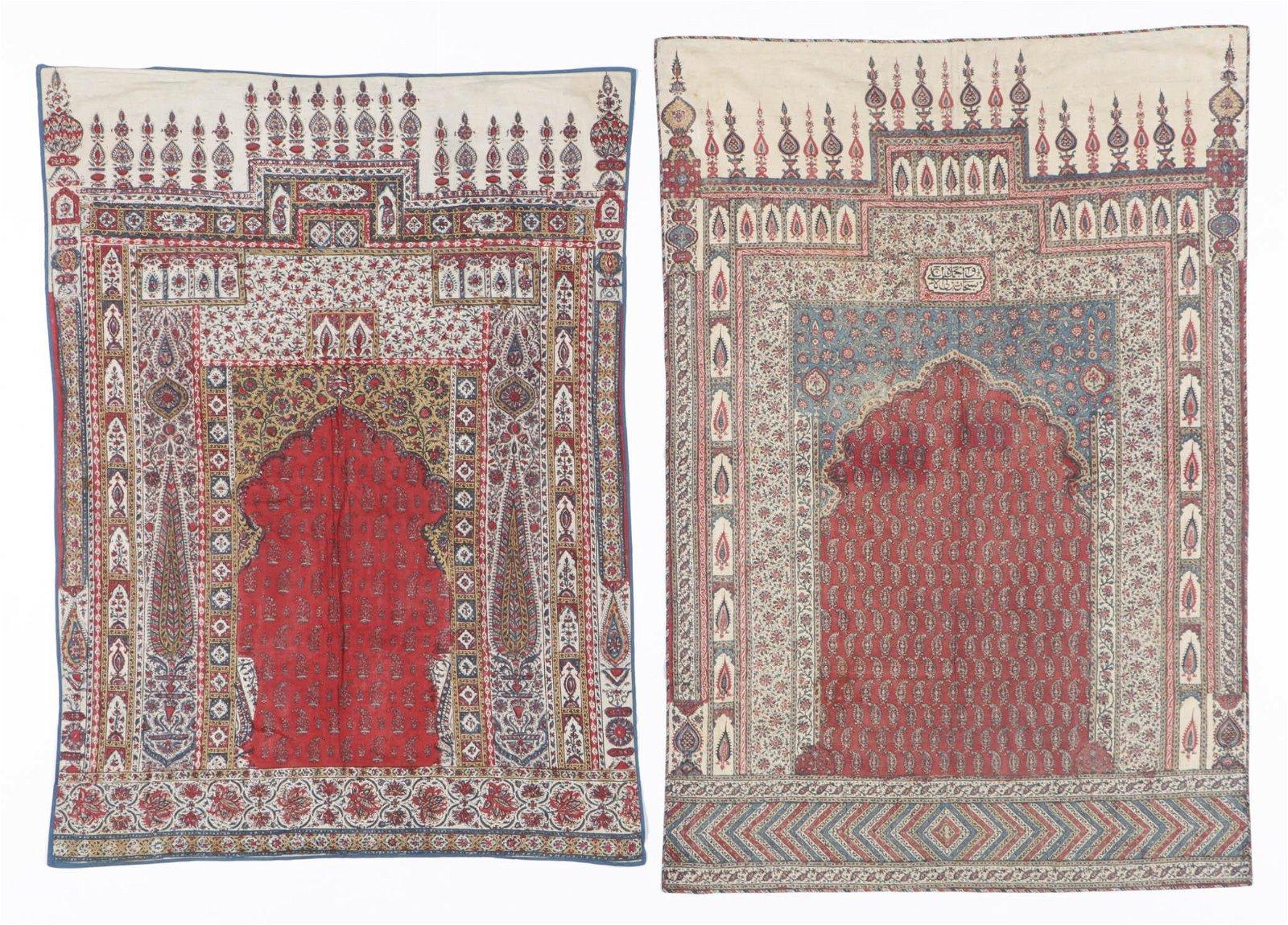 2 Persian Block Printed Textiles