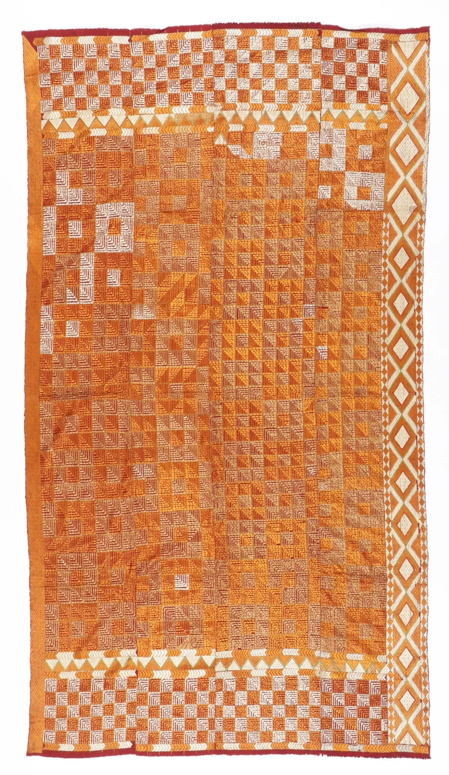 Indian Silk Phulkari Textile
