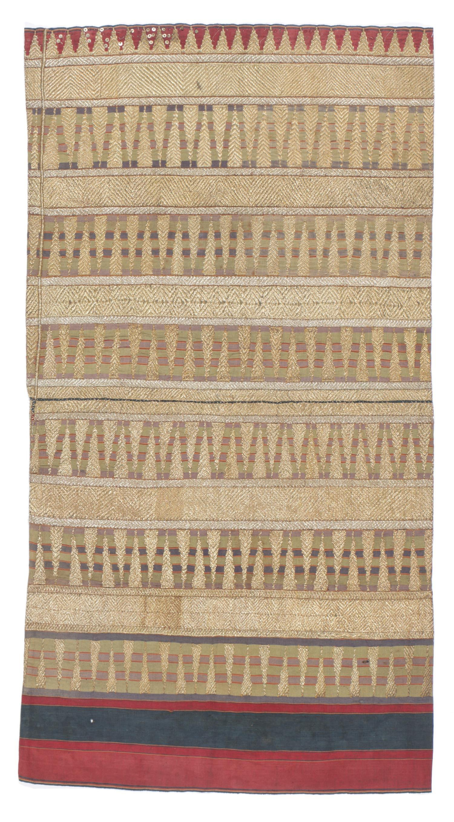 Antique Ceremonial Tapis with Gold Thread
