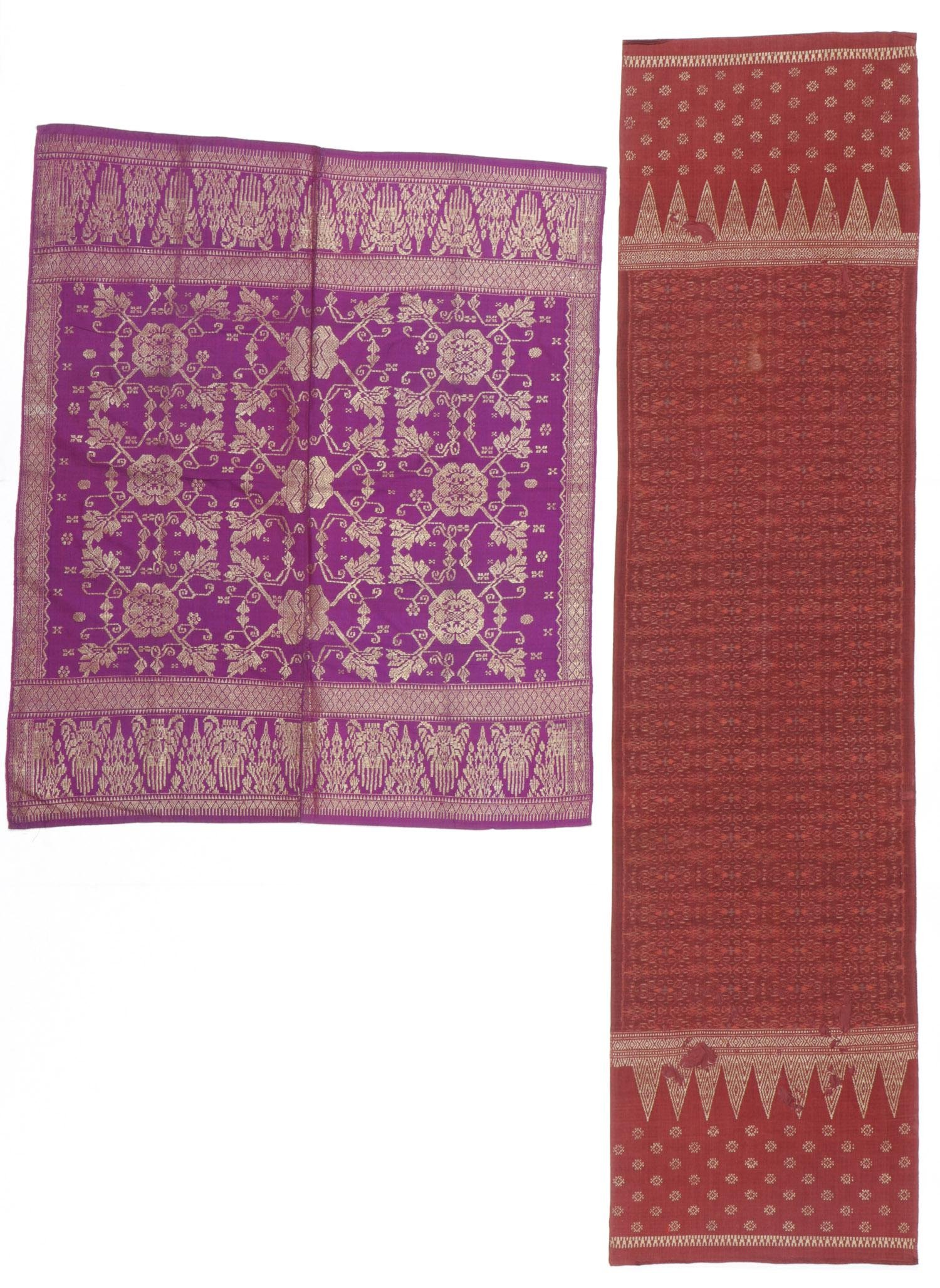 2 Indonesian Textiles with Songket