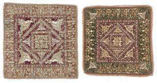 2 Antique Indonesian Velvet Ceremonial Textiles