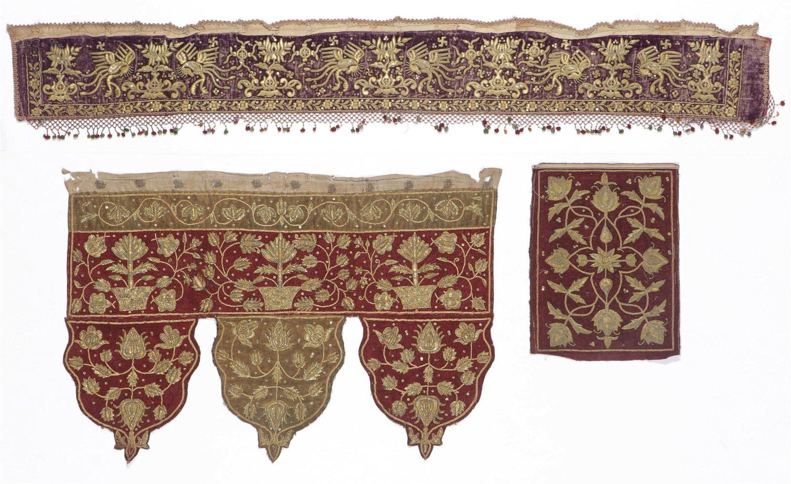 3 Antique Chinese/Sumatran Textiles