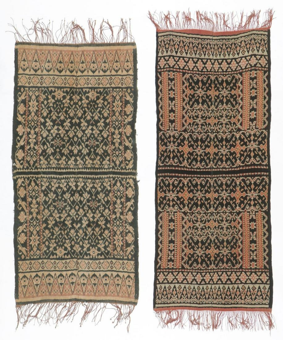 2 Antique Roti Ikat Textiles